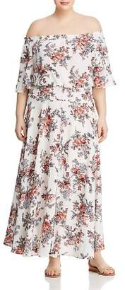 Glamorous CURVY Off-the-Shoulder Floral Maxi Dress