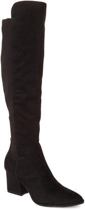 Marc Fisher Black Lecture Knee-High Boots