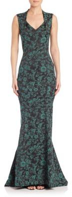 Zac Posen Floral Print Mermaid Gown $2,790 thestylecure.com