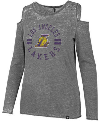 '47 Women Los Angeles Lakers Cold Shoulder Long Sleeve T-Shirt