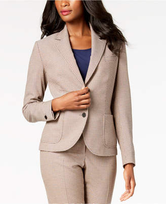 Anne Klein Two-Button Plaid Blazer, Created for Macy's