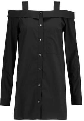 Robert Rodriguez Cold-Shoulder Cotton-Poplin Shirt