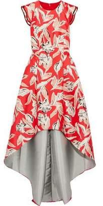 Sachin + Babi Masha Printed Crepe De Chine Asymmetric Gown