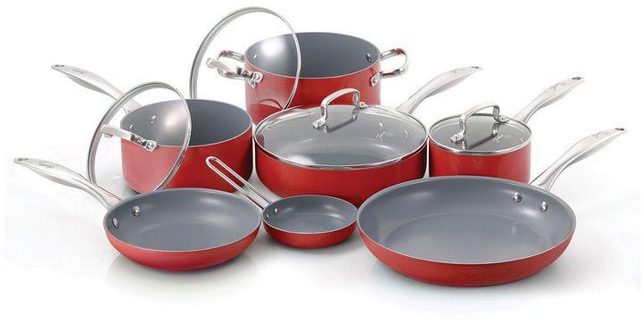 Fiesta 11-pc. Ceramic Nonstick Aluminum Cookware Set