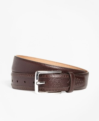 Brooks Brothers Pebble Leather Belt