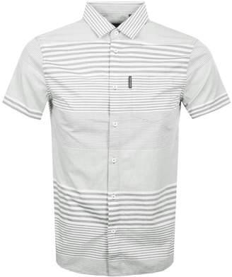 Armani Exchange Short Sleeved Striped Shirt Grey