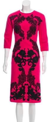 Dolce & Gabbana 2017 Virgin Wool Midi Dress