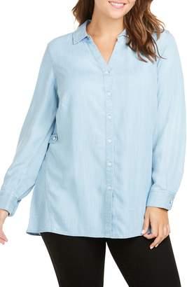 Foxcroft Split Collar Button Down Shirt