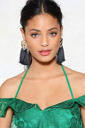 Nasty Gal Bat Your Lashes Tassel Earrings