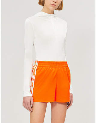 adidas Striped stretch-jersey shorts