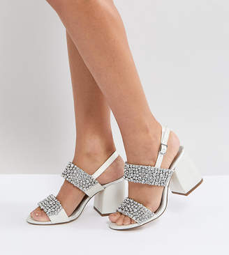 Asos Design HUBBY Bridal Embellished Heeled Sandals