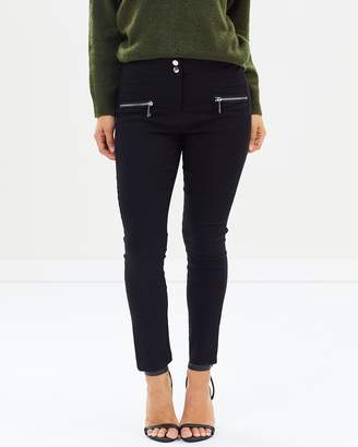 Zip Detail Skinny Fit Trousers