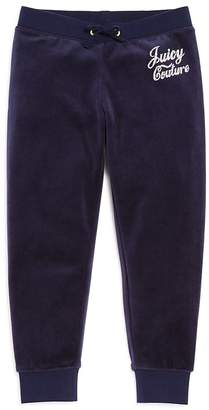 Juicy Couture Black Label Girls' Velour Rhinestone Zuma Pants - Big Kid