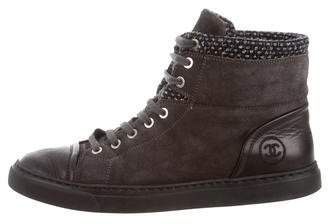 Chanel Suede High-Top Sneakers
