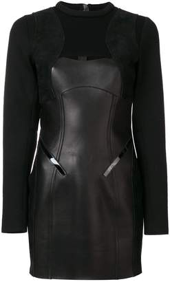 DSQUARED2 panelled long sleeve dress