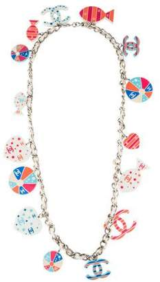 Chanel Multicolor Resin CC, Fish & Beach Ball Charm Necklace