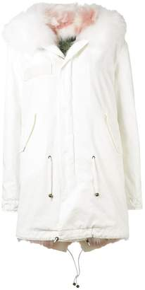 Mr & Mrs Italy Fur collar parka coat
