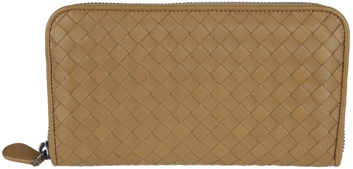 Bottega Veneta Bottega Veneta Braided Zip Around Wallet