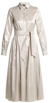 Max Mara Novara Shirtdress - Womens - Light Grey