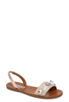Women's Steve Madden Ameline Embellished Flat Sandal $69.95 thestylecure.com