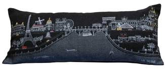 BEYOND CUSHIONS Paris Embroidered Skyline Pillow