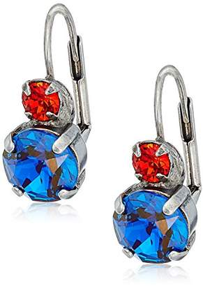 Sorrelli Crush Round Crystal French Wire Drop Earrings