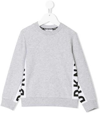 DKNY contrast panels sweatshirt
