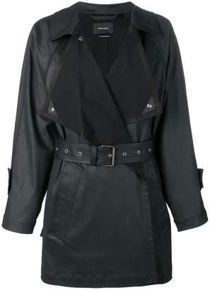 Isabel Marant belted faux-leather coat