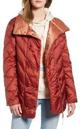 Scotch & Soda Contrast Lining Puffer Coat