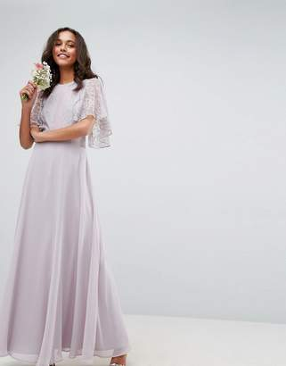 Asos DESIGN bridesmaid delicate lace applique maxi dress