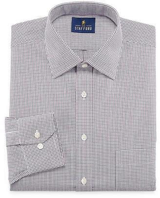 STAFFORD Stafford Executive Non-Iron Cotton Pinpoint Oxford Long Sleeve Plaid Dress Shirt