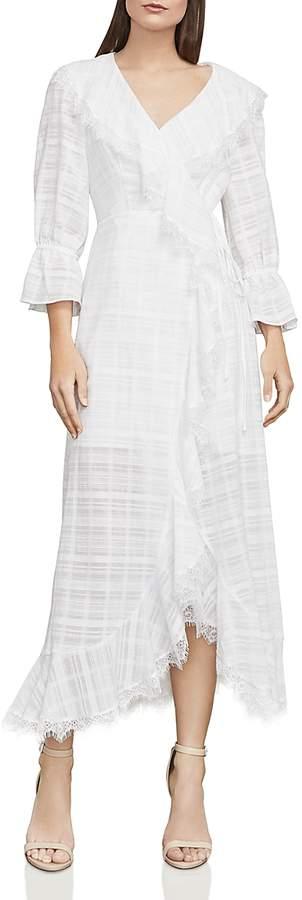 Cheryl Plaid Midi Wrap Dress