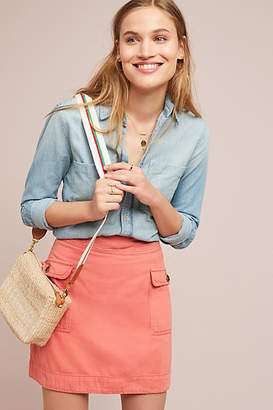 Anthropologie Utility Mini Skirt