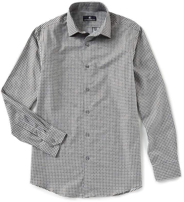 Hart Schaffner Marx Long-Sleeve Diamond Print Sportshirt