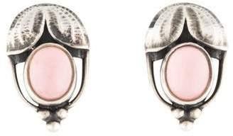 Georg Jensen Quartz Doublet Flower Earrings