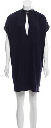 Yigal Azrouel Mock Neck Sleeveless Dress