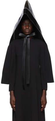 Comme des Garcons Black Faux-Leather Oversized Hood
