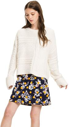 Tommy Hilfiger Mixed Knit Bell Sleeve Sweater