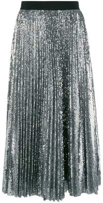 MSGM pleated sequin midi skirt
