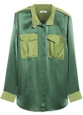 Equipment Two-Tone Washed-Silk Shirt