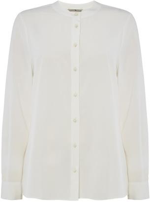 Tu clothing White Button Collarless Shirt