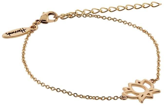Gold Plated Lotus Flower Bracelet