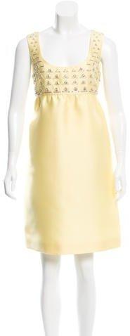 pradaPrada Embellished Cocktail Dress