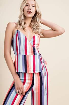 Honeybelle honey belle Bold-Striped Wrap Top