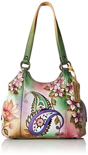 Anuschka Handpainted Leather JPP Satchel Bag