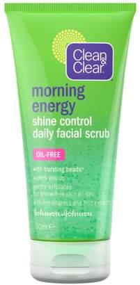 Clean & Clear Morning Energy Shine Control Daily Facial Scrub 150ml