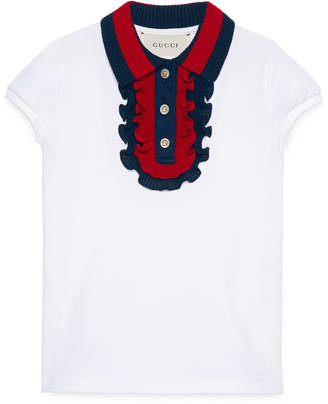 Children's cotton polo with Web $460 thestylecure.com