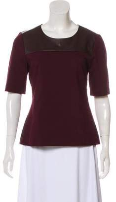 Saks Fifth Avenue Scoop Neck Short Sleeve Top w/ Tags