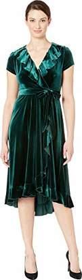 Gabby Skye Women's Short Sleeve Solid Ruffled Dress
