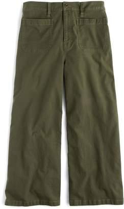 J.Crew Point Sur Washed Wide Leg Crop Pants